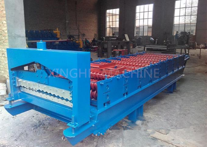 Intelligent Blue Color Wall Panel Roll Forming Machine With PLC Control System
