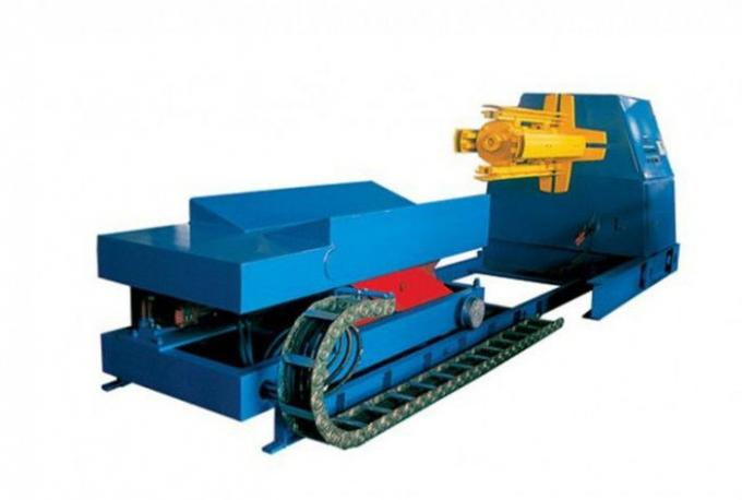 380V 60HZ Roll Forming Production Line Automatic Decoiler With Hydraulic System