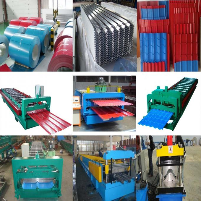 840 / 900mm Double Layer Roll Forming Machine For Pressing Glazed Roof Tile