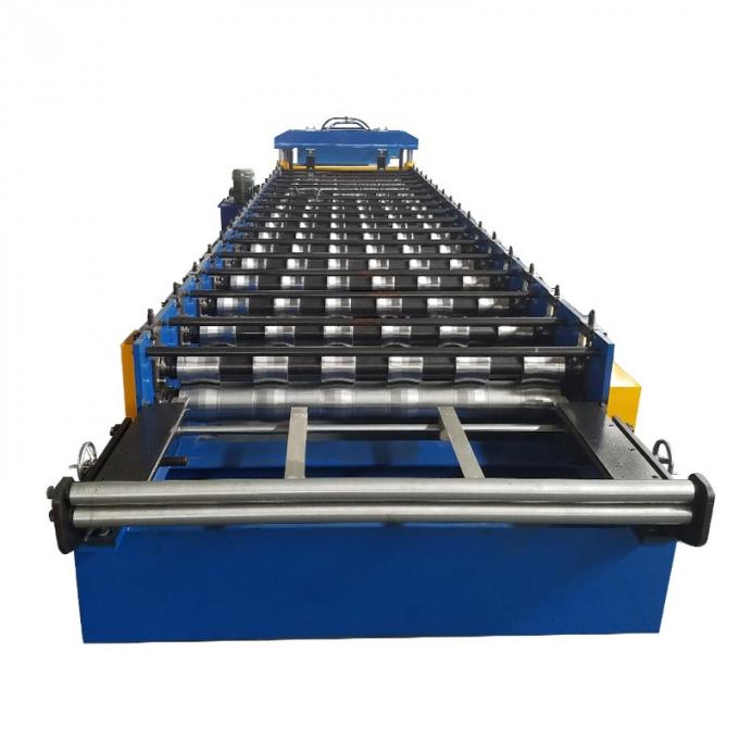 Zinc Corrugated Iron Roofing Panel Cold Roll Forming Machines , Metal Rolling Equipment