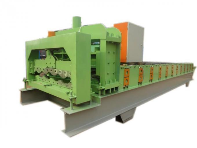 Professional Corrugated Sheet Roll Forming Machine Blue Color 0.3-0.8mm Thickness