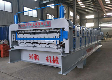 China 4Ton Double Layer Roll Forming Machine With Carbon Steel 45 Rolling Material supplier