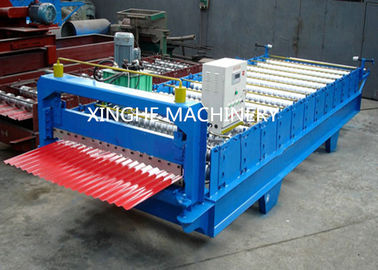 China Industrial Glazed Tile Roll Forming Machine With Hydraulic Decoiler Machine  supplier