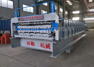 China High Capacity Metal Roof Forming Machine For 0.3 - 0.8mm Thickness Steel Plate supplier