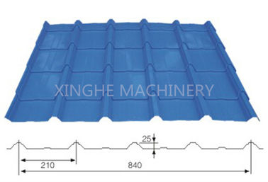 China 840mm Long Span Roofing Sheet Roll Forming Machine With Metal Bending Machine supplier