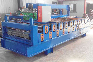 China CE Double Layer Roll Forming Machine , Trapezoidal Sheet Roll Forming Machine supplier