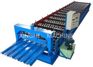 China Sheet Metal Glazed Tile Roll Forming Machine With 4 Tons High Capacity supplier