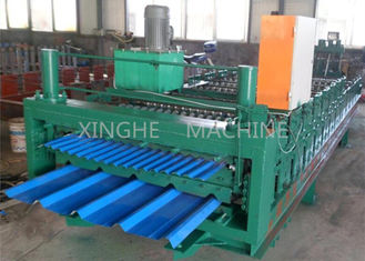 China Smart Sheet Roll Forming Machine / Tile Roll Forming Machine For 850 Width Tiles supplier