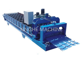 China Industrial Aluminum Step Tile Roll Forming Machine With Metal Slitter Machine  supplier