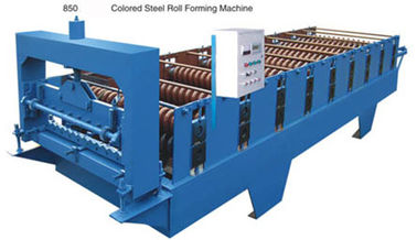 China Intelligent Blue Color Wall Panel Roll Forming Machine With PLC Control System supplier