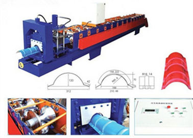 China Aluminum Ridge Cap Roll Forming Machine , Glazed Tile Roll Forming Machine  supplier