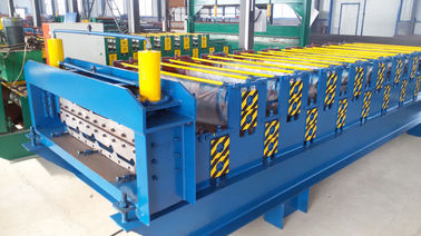 China Aluminium Roofing Tile Cold Roll Forming Machines With 12m / Min High Speed supplier