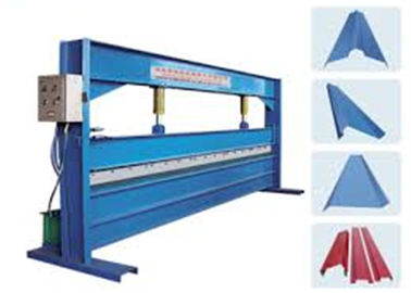 China Blue Color 4m Width Hydraulic Sheet Bending Machine For Galvanized Steel Coil supplier