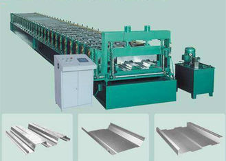 China Hydraulic Glazed Tile Roll Forming Machine For Making Color Steel Floor Deck supplier