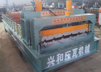 China PPGI Roof Panel Roll Forming Machine , Corrugated Sheet Roll Forming Machine supplier