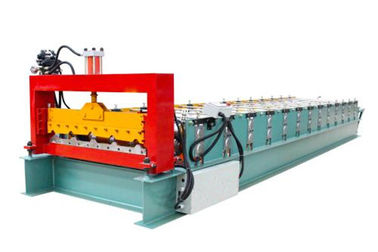 China Automatic Metal Roof Forming Machine Making 840 Width Colored Steel Tiles supplier