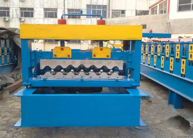 China 4kw Corrugated Sheet Roll Forming Machine For Making 750mm Width Wall Panel supplier