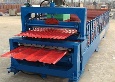 China 5.5KW High Speed Roof Panel Roll Forming Machine With High Precision In Cutting supplier