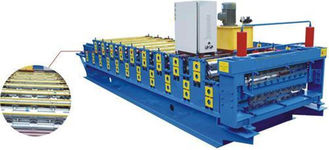 China Electric Control Double Layer Roll Forming Machine , Cnc Roll Forming Machine supplier