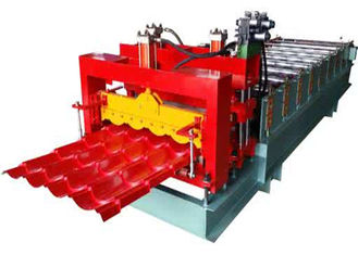 China Grey Color Corrugated Sheet Roll Forming Machine With 2 Hydraulic Guillotine supplier