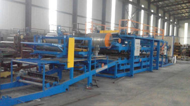 China 32KW Sandwich Panel Roll Forming Machine With 0 - 3.8m / Min Working Speed supplier