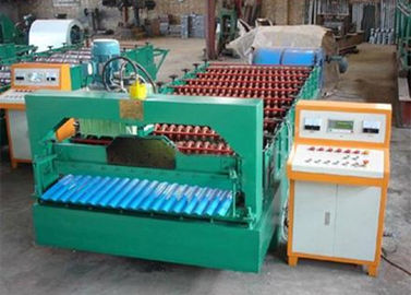 China 3.8T Metal Roof Forming Machine With PLC Frequency Conversion Control System supplier