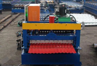 China 380V Electrical Corrugated Roll Forming Machine For 850mm Width Roofing Sheet supplier