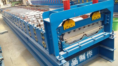 China CE Blue Color Cold Roll Forming Machines WITH 3 - 6m / Min Processing Speed supplier