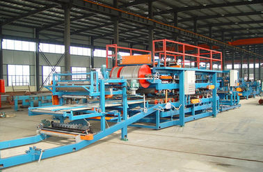China Computer Control Sandwich Panel Roll Forming Machine With Sheet Shearing Machine supplier