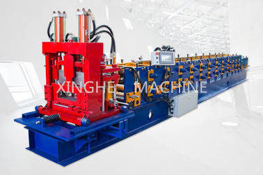 China Easy Installation Purlin Roll Forming Machine With 9.0 Tons Uncoiler Machine supplier