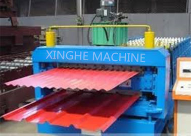 China Galvanized Metal Double Layer Roofing Sheet Roll Forming Machine / Roll Former Machinery supplier