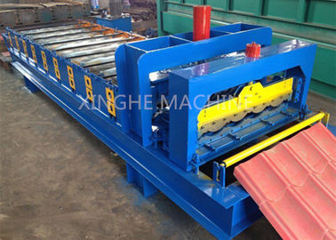 China Glazed 828 Step Tile Roof Panel Cold Roll Forming Mach / Roll Forming Equipment supplier