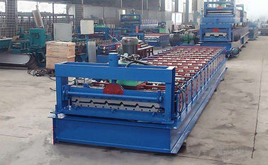 China Zinc Corrugated Iron Roofing Panel Cold Roll Forming Machines , Metal Rolling Equipment supplier