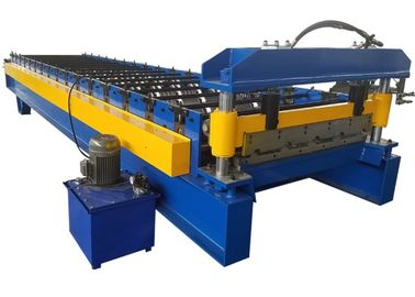 China Corrugated Steel Sheet Cold Roll Forming Machines Colored Steel Wall Roof Panel Machine supplier
