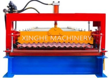 China Automatic 850 Metal Roofing Corrugated Tile Roll Forming Machine / Colored Steel Sheet Roll Making Machine supplier