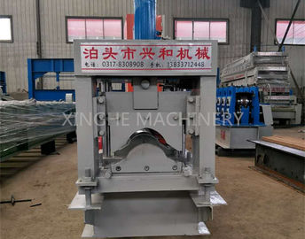 China Automatic Roof Ridge Cap Tile Cold Roll Forming Machine / Glazed Aluminum Metal Rib Tile Forming Machine supplier
