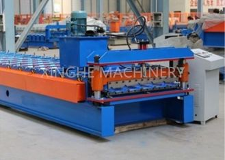 China Metal Roofing Sheet Bending Machine , Automatic Roof Panel Roll Forming Machine supplier