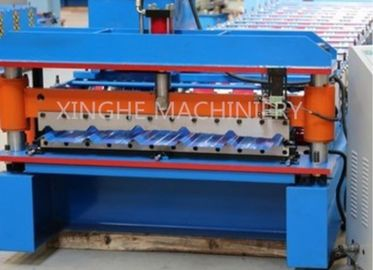 China Galvanised Steel Sheets Corrugation Roof Panel Roll Forming Machine 12 Months Warranty supplier