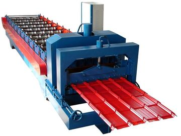 China Professional Corrugated Sheet Roll Forming Machine Blue Color 0.3-0.8mm Thickness supplier
