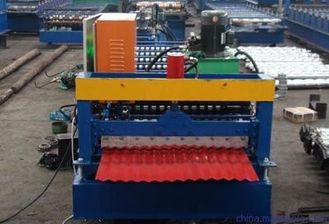 China Metal Zinc IBR Profile Automatic Roll Forming Machines 7600*1300*1500mm Size supplier