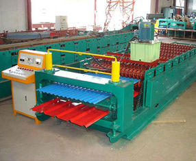 China Color Coated Meta Iron Steel Corrugated Arch Roofing Panel Roll Forming Machine supplier