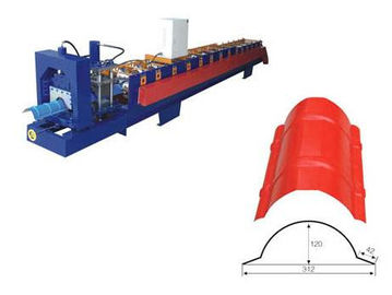 China Steel Ridge Cap Roll Forming Machine , Sheet Metal Forming Equipment supplier