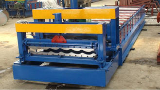 China Glazed Steel Plate Rolling Machine , Metal Step Tile Roll Making Machine supplier