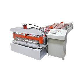 China 3 Phase 4kw 380V PPGI Steel Corrugated Sheet Roll Forming Machine Tile Type supplier