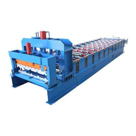 China Steel Tile Forming Machine For Roofing Glazed Sheet Metal Construction Materials supplier