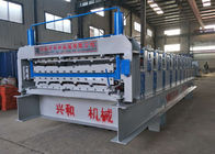 China 4Ton Double Layer Roll Forming Machine With Carbon Steel 45 Rolling Material factory