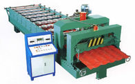 China Green Color Glazed Tile Roll Forming Machine With 3 - 6m / Min Processing Speed factory