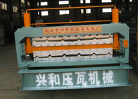 China Automatic Double Deck Roll Forming Machine For Making Steel Roof Panel factory