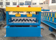 China 4kw Corrugated Sheet Roll Forming Machine For Making 750mm Width Wall Panel factory