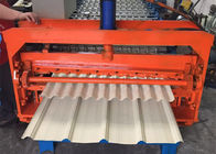 China Color Coated Metal Sheet Rolling Machine , Smart Metal Roofing Roll Former  factory